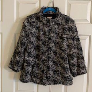 Chico's soft Faux Fur Jacket size 2 (12-14)